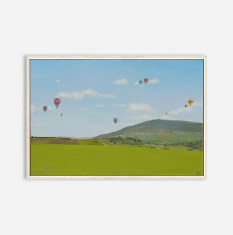 A landscape with balloons / Yaniv Dror