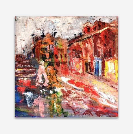 Burano Figures in the Rain / Varda Bar Nir
