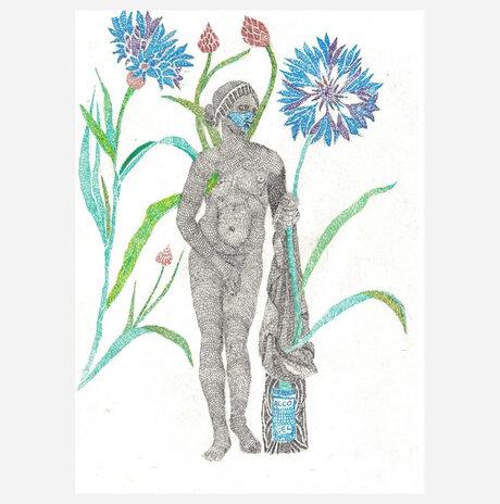 Aphrodite with cornflowers / Yael Balaban
