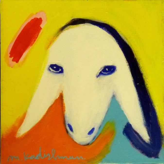 מעולה ראש כבש צבעוני, מנשה קדישמן - עבודה למכירה BF-13