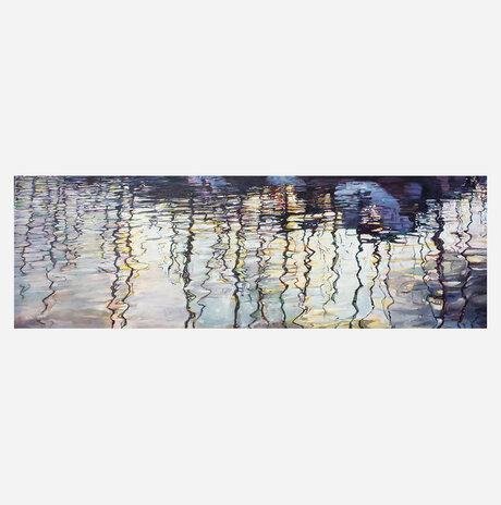 Reflections of masts in the marina / Nurit Shany