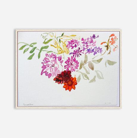 Honeysuckel lilac and zinnias / Pamela Silver