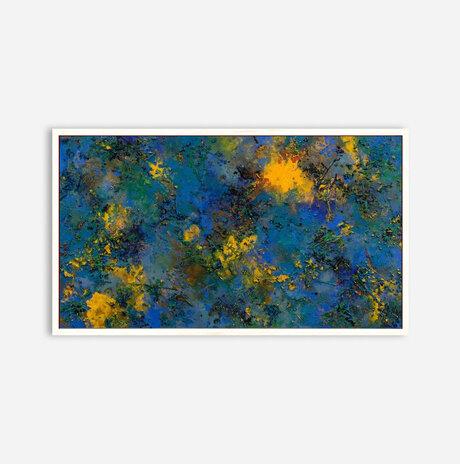 אבסטרקט כחול צהוב / נעמי לינזן