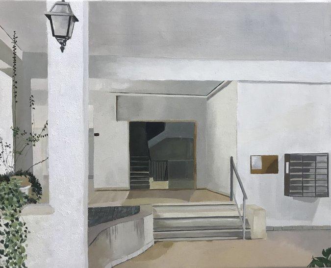 כניסה לבית דירות, תל אביב / זוהר פלקס