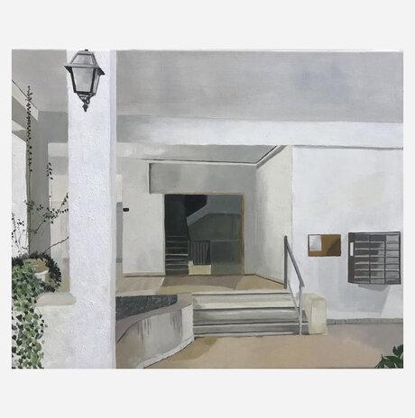 כניסה לבית דירות, תל אביב / זהר פלקס