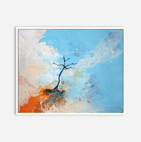 Tree with orange and celeste / Aya Eliav