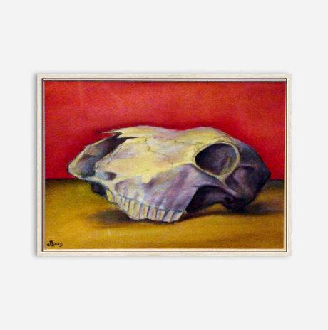 Small Red Skull / Jonathan Beck
