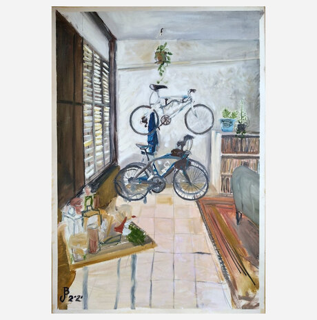 Interior with bicycles / Jonathan Beck