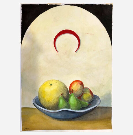 Still Life with Red Crescent / Jonathan Beck